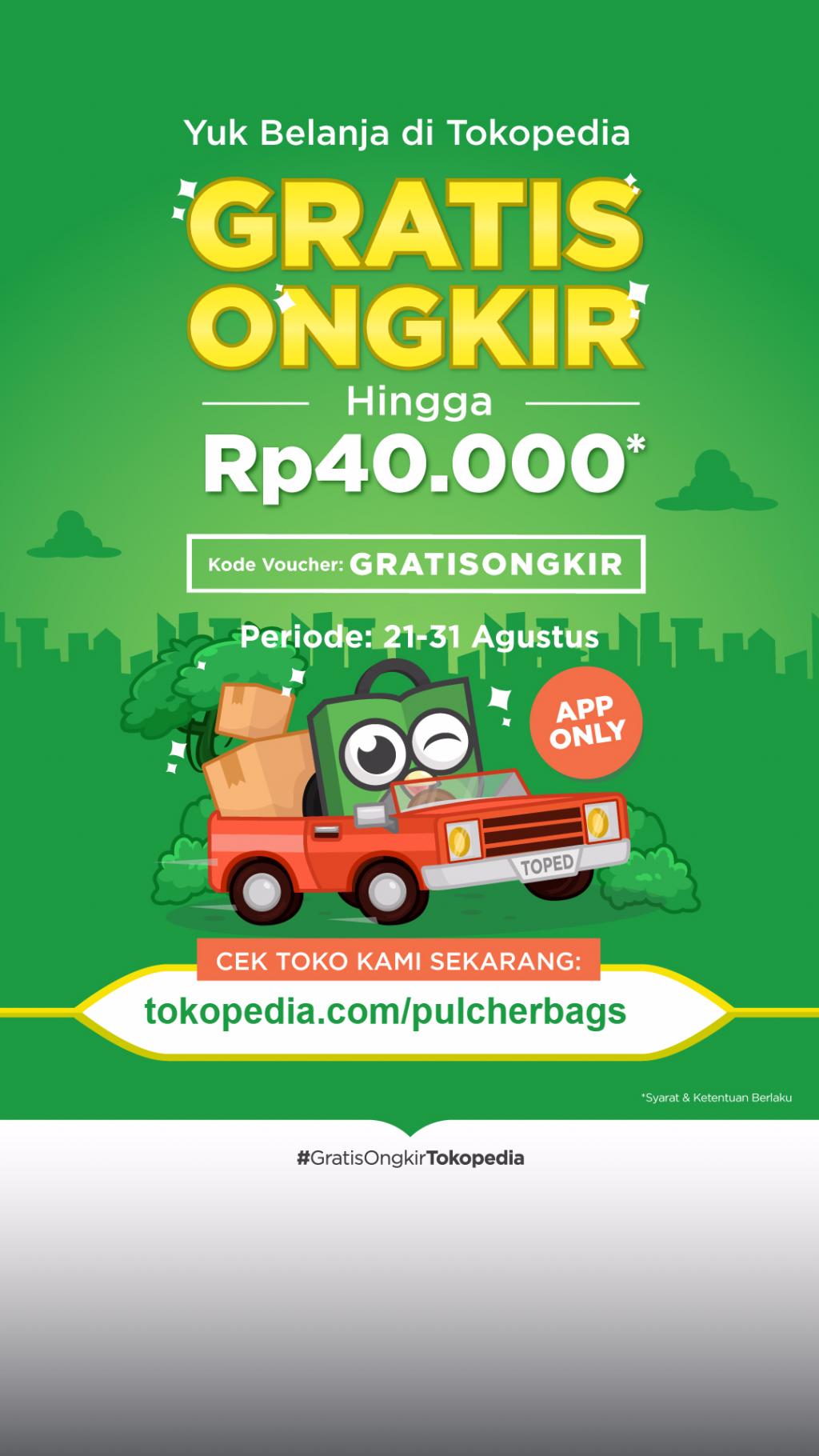 Pulcher Promo Gratis Ongkir Tokopedia Previous Next