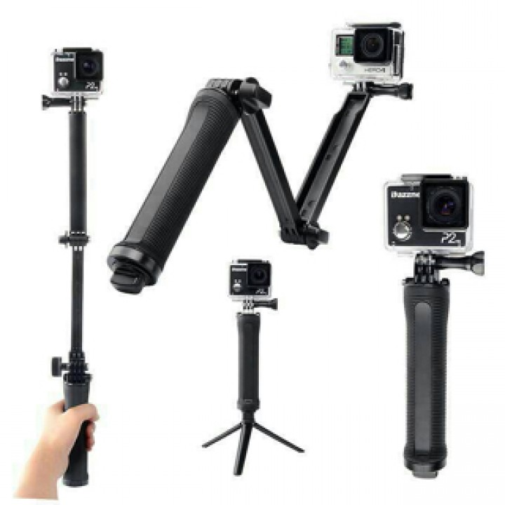 Image result for 3 Way Tongsis Gopro Xiaomi Yi Action Cam