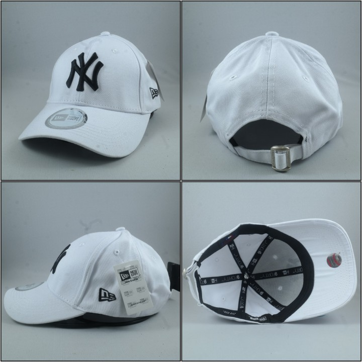 ae3076e4d ... czech bjs bandung jersey shop topi snapback mlb melengkung new york  yankees putih logo hitam 5b450