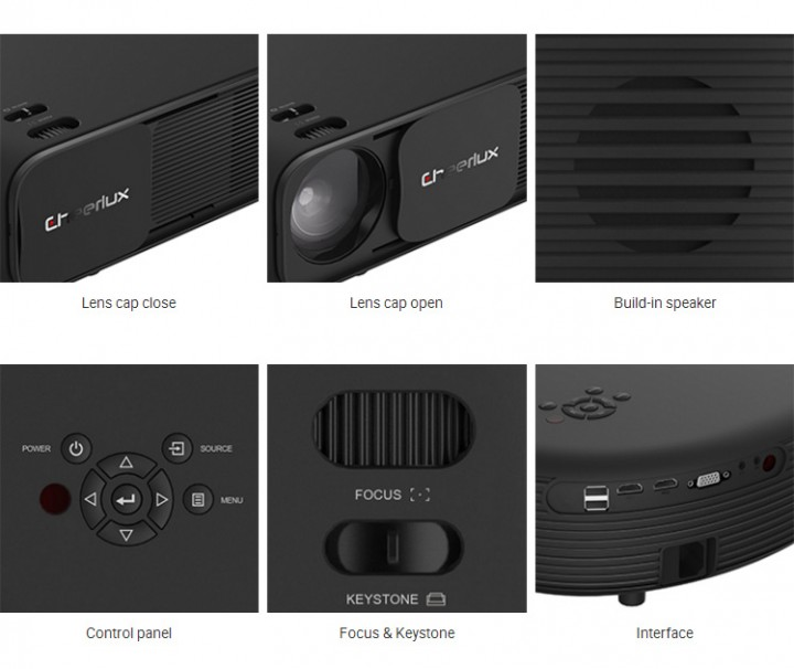 ec1e7bcee0b979 Original CHEERLUX CL760 320 ANSI Lumens LCD Video Projector 3200 Lumens  Real HD with TV Tunner