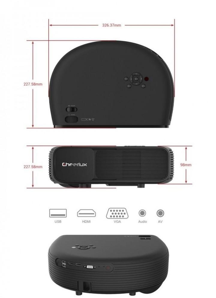 740b242fdbee03 Tokuniku - Original CHEERLUX CL760 320 ANSI Lumens LCD Video Projector 3200  Lumens Real HD with TV Tunner