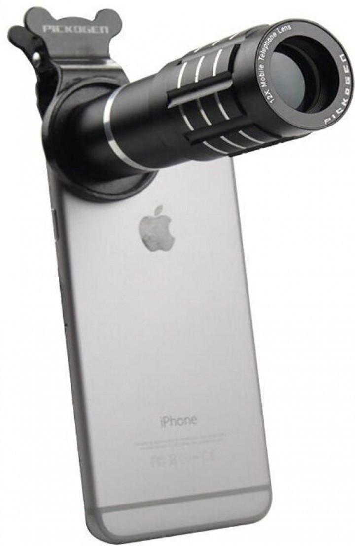 Alasbelanja Original Pickogen Universal Cellphone Telephoto Lens Lensa Jepit 12x Zoom Camera Telescope Hp Clip