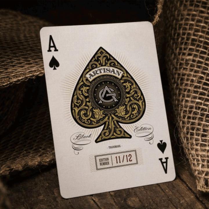 Tokuniku Kartu Remi Poker Import Artisan Black Theory11 Playing Cards