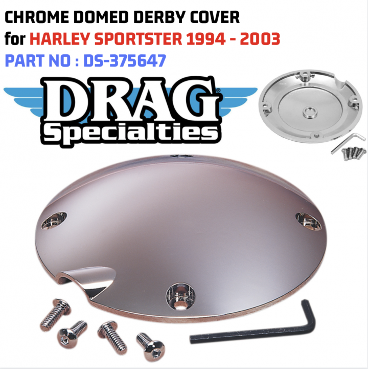 Chrome Clutch Derby Cover Harley Sportster 883 Hugger XLH 1994-2003 Motorcycle
