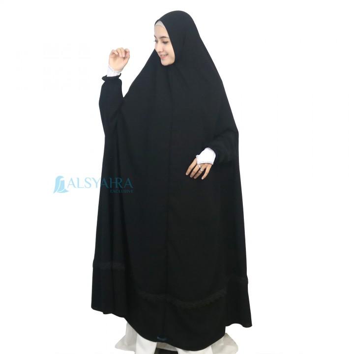 Alsyahra Exclusive Alsyahra Exclusive French Khimar Shawalia Altaj Jetblack