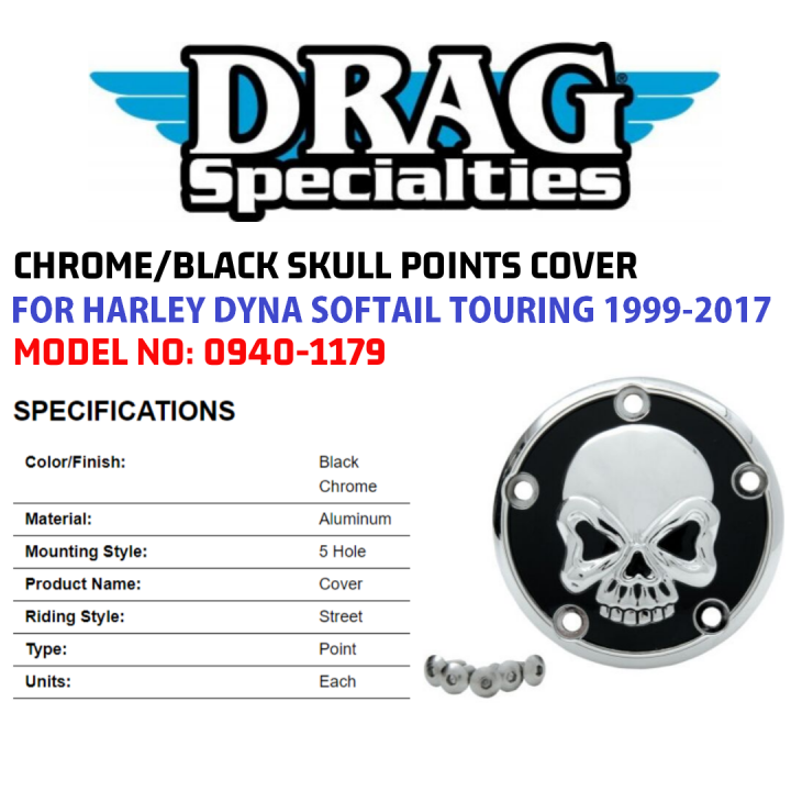 Drag Specialties Gold Live to Ride Points Cover for 1999-2017 Harley Twin Cam