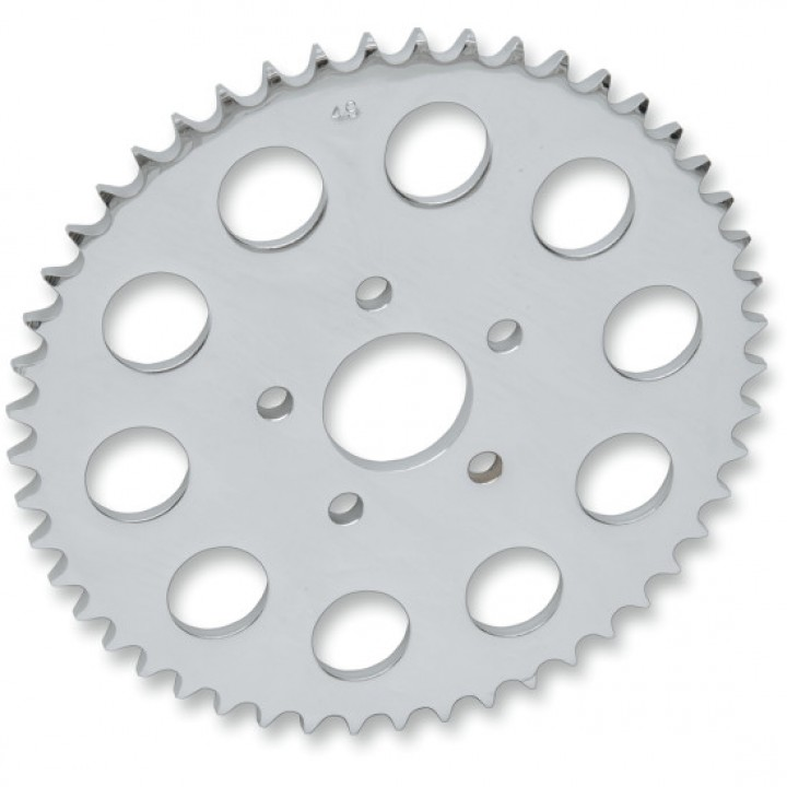 Twin Power 48 Tooth Chrome Plated .500 Offset Rear Sprocket for Harley Davidson