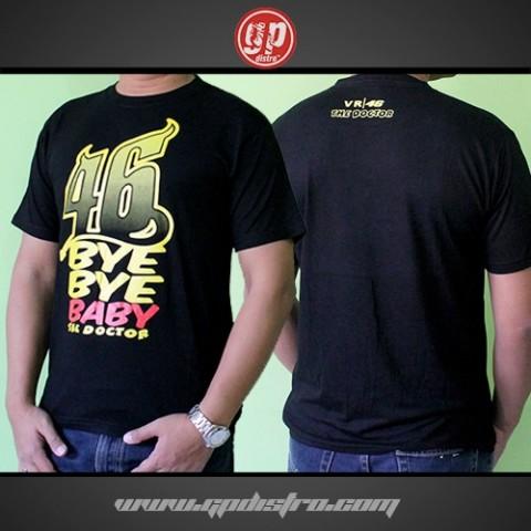 T Shirt Spandek 46 Bye Bye Baby Black