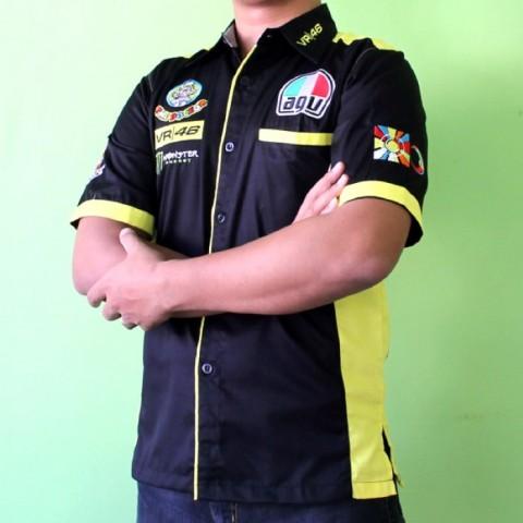 Kemeja VR46 The Doctor Black Yellow