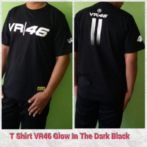 T Shirt VR46 Glow In The Dark Black
