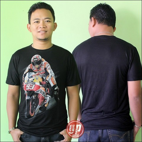 T Shirt Spandek Rider 93 Black (free size)