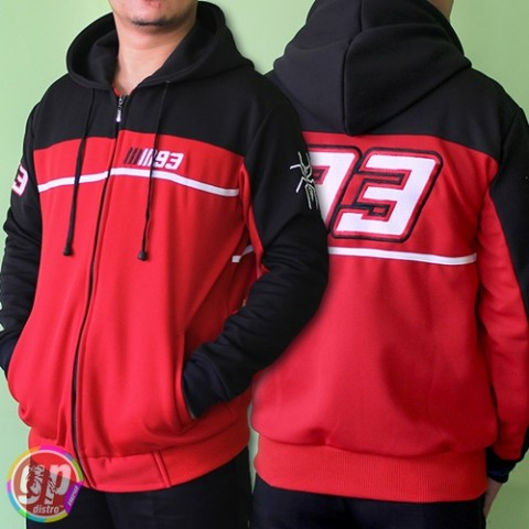 Sweater MM93 Black Red