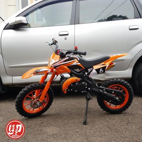 Motor Mini Trail 50cc (mesin bensin 2tak) (Orange)
