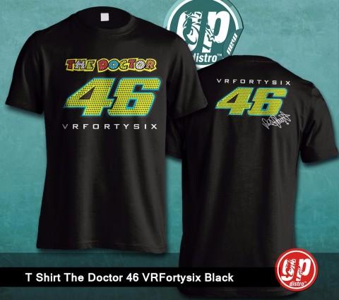 T Shirt The Doctor 46 VRFortysix Black