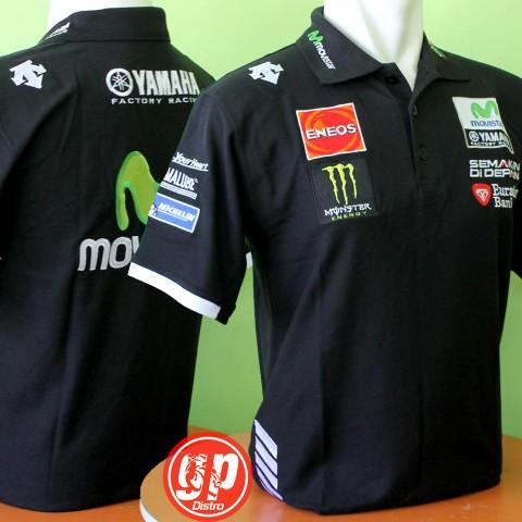 Polo Shirt Yamaha Movistar  Black 2016