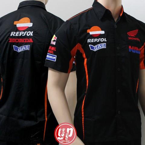 Kemeja Repsol Crew Black 2016 Michelin