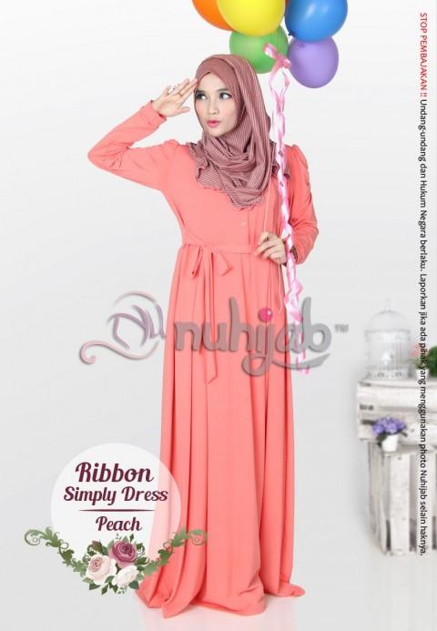 RSD (Ribbon Simple Dress) - Peach