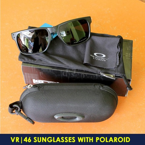 Sunglasses Oakley Holbrook VR46 Black with Polaroid