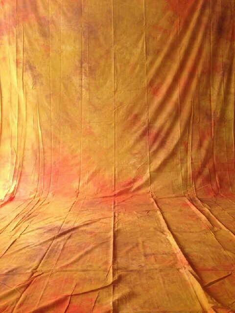 Background abstrak Oranye Kuning 3x6 meter