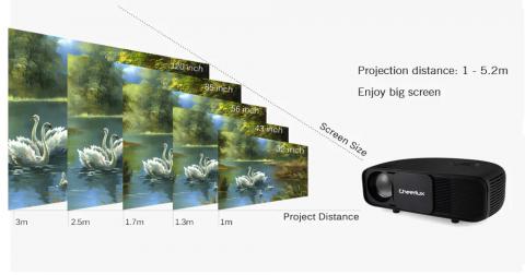41ad22b17e1280 Original CHEERLUX CL760 320 ANSI Lumens LCD Video Projector ...