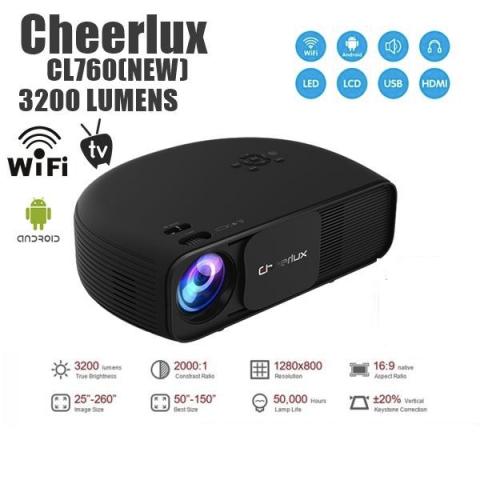 5e352695835e41 Babanesia - Original CHEERLUX CL760 Android WIFI Projector 3200 ...
