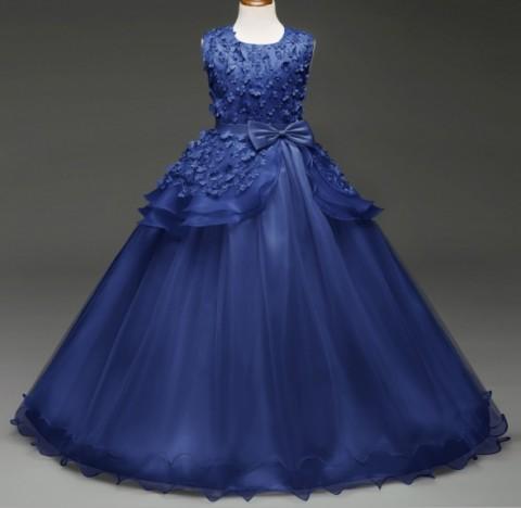 Karenval Com Drs 0699 Baju Pesta Anak Import Elegant Long Dress