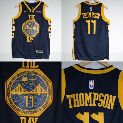1c9c0bdb8e1 JERSEY BASKET NBA GOLDEN STATE WARRIORS THE BAY CITY EDITION  11 KLAY  THOMPSON NAVY