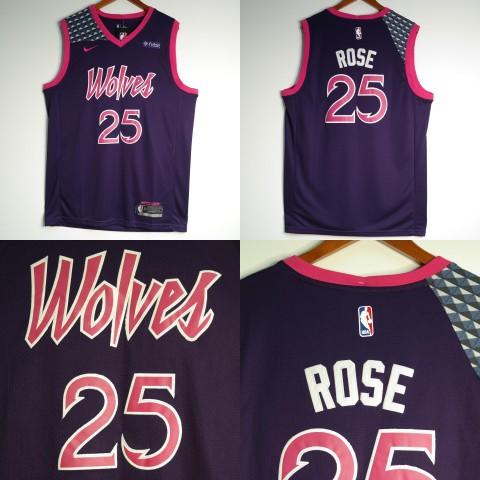 195fbfdfc9f JERSEY NBA NIKE MINNESOTA TIMBERWOLVES  25 DERRICK ROSE UNGU