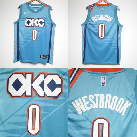 5a92f2a5938 JERSEY NBA OKLAHOMA CITY THUNDER  0 RUSSELL WESTBROOK CITY EDITION BIRU