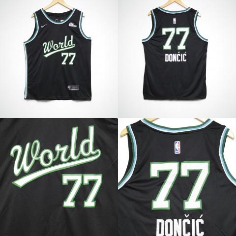 9abec32a65b JERSEY NBA RISING STAR 2019 77 LUKA DONCIC HITAM