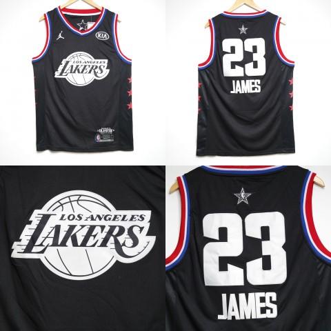 d416cab2176 JERSEY NBA ALLSTAR 2019 LOS ANGELES LAKERS  23 LEBRON JAMES HITAM