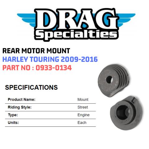 Drag Specialties 0933-0134 Rear Iso-Mount Motor Mount