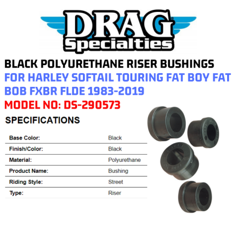 Polyurethane Handlebar Riser Bushings Harley 1989-1996 Tour Glide Ultra Classic